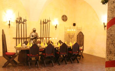 knights dinner at the fortress of Salzburg